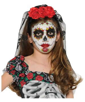 Day of the Dead Women Mantilla