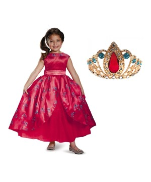 Disney Elena Girls Ball Gown and Tiara Set