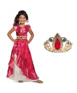 Elena of Avalor Princess Dress and Tiara Costume Kit