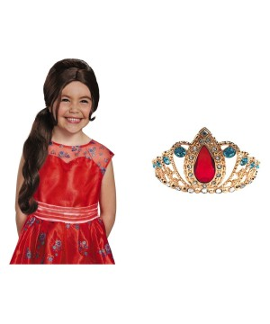 Elena of Avalor Princess Tiara and Wig Disney Costume Kit