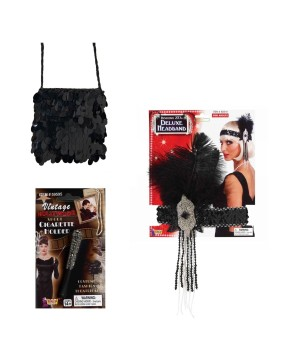 Flapper Women Costume Kit