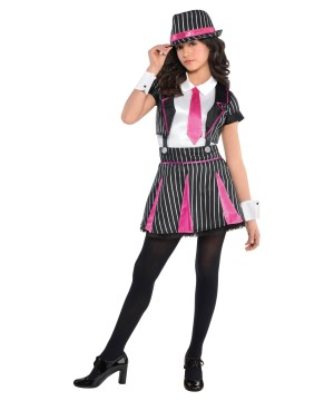 Gangster Doll Girls Costume