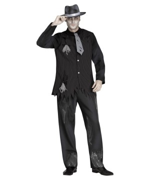 Ghostly Gangster Men Costume