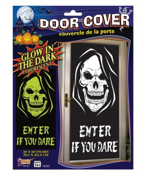 Glow in the Dark Door Poster Skull