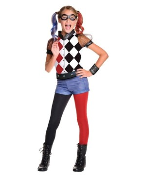 Harley Quinn Girls Costume deluxe