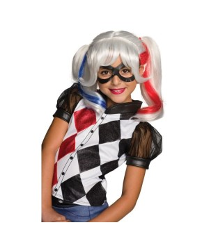 Harley Quinn Girls Wig