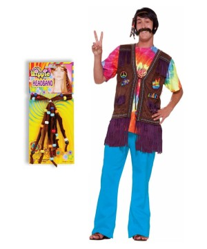 Happy Hippie Adult Costume Kit