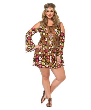 Hippie Starflower plus size Women Costume