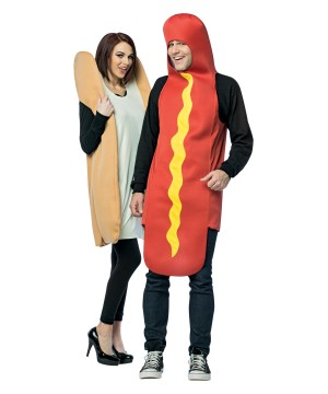 Hot Dog and Bun Couples Costume  sc 1 st  Wonder Costumes & Food Costumes | Food Candy and Drink Halloween Outfits