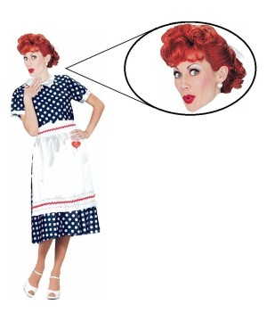 I Love Lucy Women Costume and Wig Set