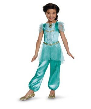 Princess Jasmine Classic Girl Costume  sc 1 st  Halloween Costumes : adult jafar costume  - Germanpascual.Com
