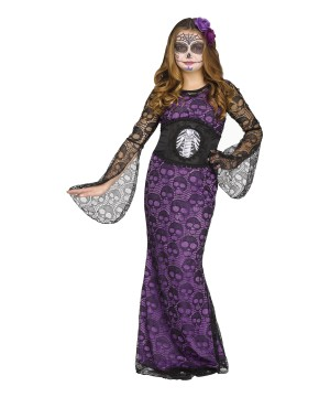 La Muerte Day of the Dead Girls Costume