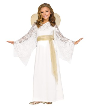 Lace Angel Girls Costume
