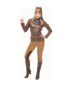 Pilot Lady Lindy Women Costume