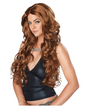 Light Brown Celebrity Glam Wig