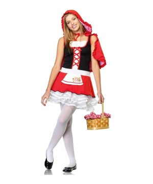 Little Red Riding Hood Teen Girls Costume and Basket Set