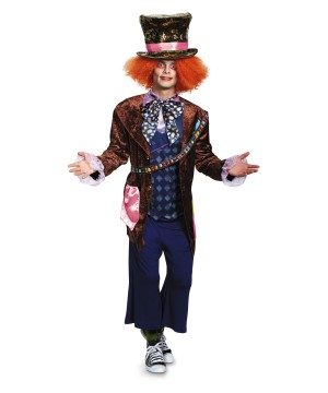 Mad Hatter Alice Through the Looking Glass Men Costume deluxe