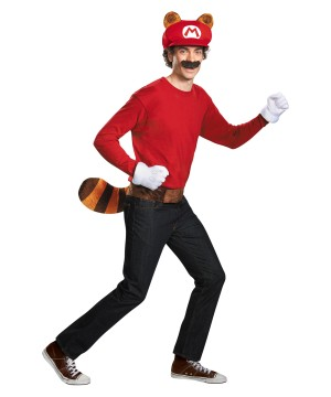 Mario Raccoon Men Costume Kit