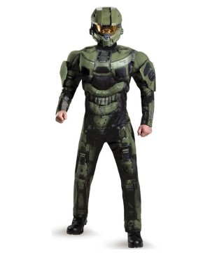 Master Chief deluxe Muscle Men Costume