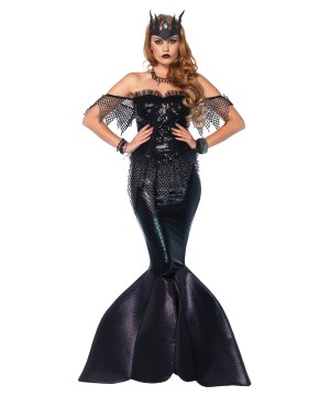Mermaid Dark Water Siren Women Costume