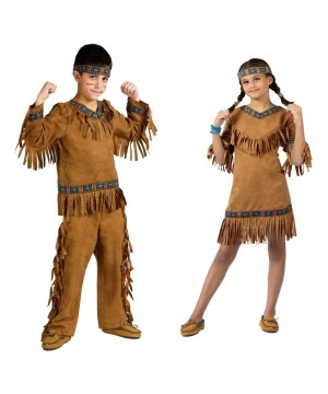 Native American Indian Boys and Girls Costume Set