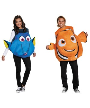Nemo and Dory Couples Costume Set