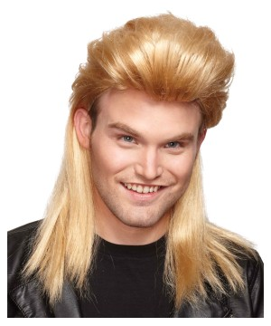 Nightclub Mullet Blonde Wig
