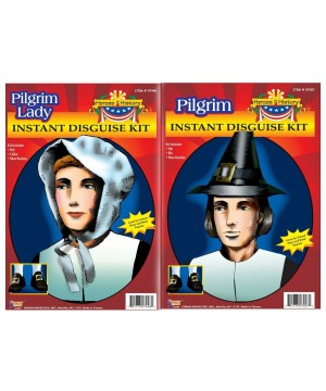 Pilgrim Men and Women Costume Kits