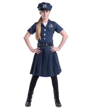 Police Girls Dress Costume