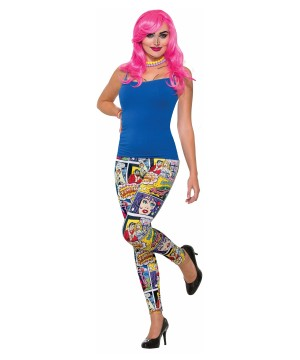 Pop Art Comic Printed Leggings