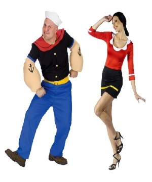Popeye and Olive Oyl Couples Costumes Set