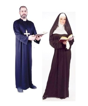 Priest and Nun Adult Costume Kit