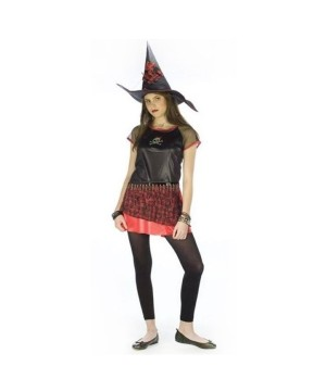 Punk Plaid Witch Teen Costume