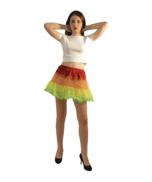 Red Orange Green and Blue Rainbow Tutu Petticoat
