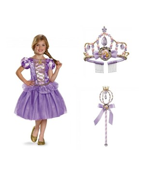 Rapunzel Costume Wand and Tiara Kit