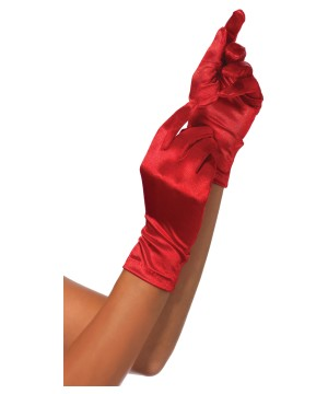 Red Gloves Wrist Length