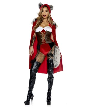 Red Riding Hood Haute Storybook Character Women Costume