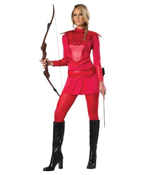 Red Warrior Huntress Women Costume