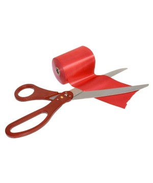 Ribbon Cutting Scissors Red Blue Handle