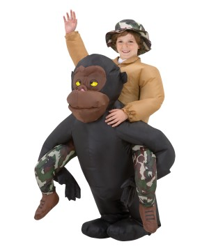 Riding Gorilla Boys Inflatable Costume