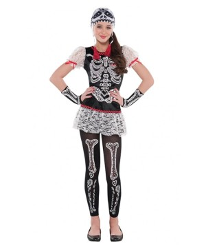 Sassy Skeleton Day of the Dead Teen Costume