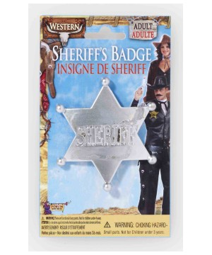 Sheriff Badge Silver