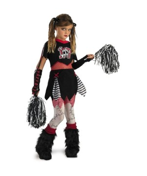 Skull Pirate Cheerleader Girls Costume