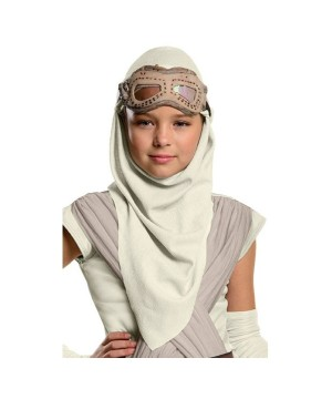 Star Wars Rey Mask With Hood Kids Costume Accessory