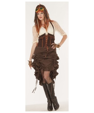 Steampunk Saloon Women Skirt