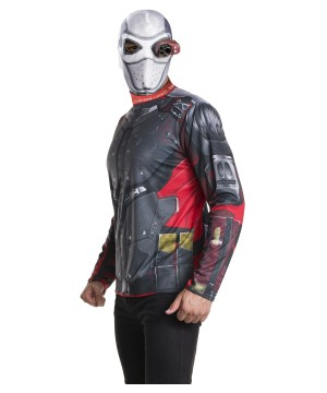 Suicide Squad Deadshot Shirt and Mask Costume Set