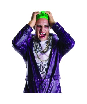 Suicide Squad Joker Wig and Teeth Accessory Set
