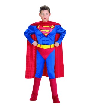 Superman Muscle Toddler Boys Costume