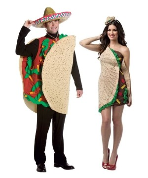 Taco Couple Costume Kit