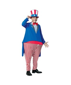 Uncle Sam Hoopster Men Costume